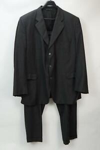Jack Victor Loro Piana Men's 2 piece Suit Striped Jacket Pant Black 54L