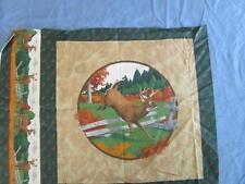 "Cranston Fabric Deer Panel Print Quilt Craft 23"" X 17"""