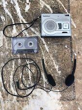 Radio Shack CTR-122 Handheld Cassette Tape Recorder VOX Voice Activation Works