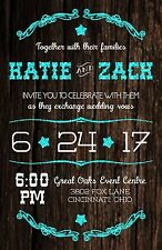 Wedding Invitations Rustic Country Star Any Colors 50 Invitations & RSVP Cards