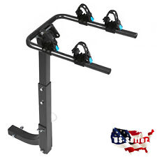 """Car SUV 2 Bike Rack Bicycle Rear Carrier 2"""" Receiver Hitch Mount Swing Away"""