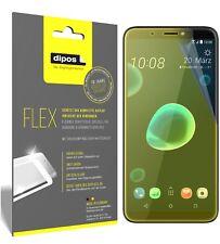 3x HTC Desire 12 Plus Schutzfolie Folie, 100% Displayabdeckung, dipos Flex