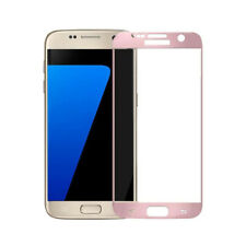 Full Screen Cover Samsung Galaxy S7 Tempered Glass Screen Protector Rose Gold