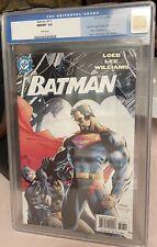 Batman #612 CGC 9.8 (2003) Jim Lee - Classic Batman vs Superman [DC Comics]