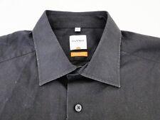 Olymp Luxor Slim Line Herren Hemd Langarm Schwarz Unifarben KW43