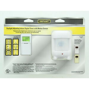 Defiant 7-Day SunSmart Digital Programmable Light Timer with Motion Sensor 49820