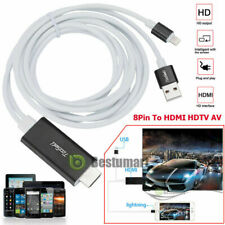 Lightning 8 Pin to HDMI Cable HDTV TV Digital AV Adapter for A pple iPhone/iPad