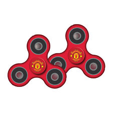 (2) MANCHESTER UNITED OFFICIALLY LICENSED FIDGET SPINNER SAFETY CERTIFIED TESTED