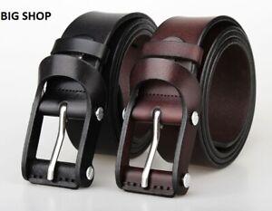 Leather Men Belt , Genuine Leather Belt For Trouser Dress, Jeans Brown / Black