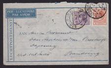 Netherlands 1930 Airmail Cover Luchtpost Strijp to Bandoeng Seint via Radio