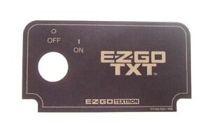 EZGO TXT / Medalist (1994.5-Up) Golf Cart Key Switch Console Decal