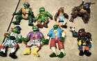 Vintage 1991  TMNT Mirage Studios Playmates Toys Lot Of 8 B377