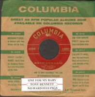 Bennett, Tony - One For My Baby  Vinyl 45 rpm record Free Shipping