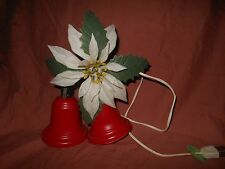 Vintage 2-Bell Cluster, Light Up~Door Display~Christmas Decor Red Plastic Timco