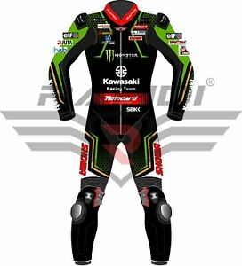ALEX LOWES KAWASAKI SHOWA MOTOCARD 2020 MODEL MOTORBIKE RACING LEATHER SUIT