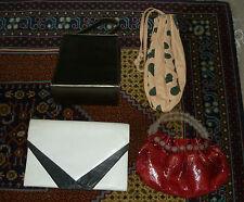 4x Vintage Womens Clutch Purse Leather Handbag ~ Classic 70s 80s 90s Retro Bags