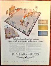 Kimlark rugs 1925 original vintage print 1920s art deco illustration home decor