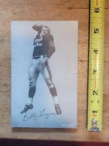 Vintage 1948 Bobby Layne football exhibit card #27 Detroit Lions