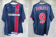 Maillot PARIS SAINT-GERMAIN PSG 2005 NIKE shirt PAULETA n°9 vintage jersey XL