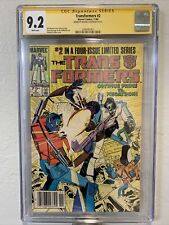 Transformers #2 CGC SS 9.2 Signed By Michael Golden (Marvel, 1984) Newsstand