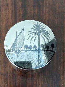 Iraq Silver Niello Lidded Pot