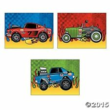 Race Car Party Favors STICKERS Sports Theme Kids Crafts Birthday 12 Sheets