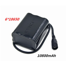 8.4V 10800mAh 6x 18650 Battery Pack FOR Led Bike Bicycle Light Lamp With Battery