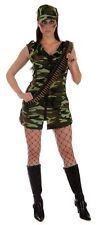 SEXY ARMY GIRL ADULT FANCY DRESS  COSTUME HALLOWEEN PARTY TO CLEAR FREE UK P+P