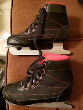 Dbx Children's Black w/ Red Soft Boot Double Blade Ice Skates Size Boys 13K