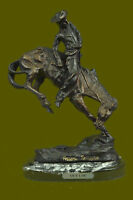 FREDERIC REMINGTON, Mid 20th C. Bronze Sculpture The Cowboy Hot Cast Figurine