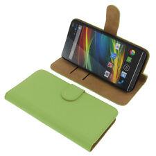 Funda para Wiko Slide Book Style Protectora Teléfono Móvil Estilo Libro Verde