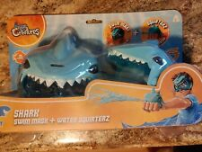 Shark Goggles Swim Mask & Shark Water Gun Combo Kids Aqua Creatures New Pool Toy