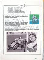 565235 / Motorrad Beleg Autogramm Giacomo Agostini