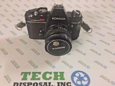 Konica Autoreflex TC Hexanon Film Camera AR 50mm F1.7 Lens Untested