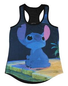 Disney Women's Lilo And Stitch Sad Sublimation Racerback Plus Size Tank Top, 2