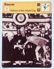 Sportscaster Football Card Editions Rencontre History Of The World Cup 1938 Draw