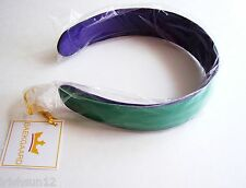 VERA BRADLEY Baekgaard -Kelly Green/Violet Wide Headband - Leather Suede Kelly