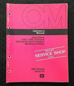 1974 JOHN DEERE 1350 1450 2350 2450 SEMI-INTEGRAL MOLDBOARD PLOW OPERATOR MANUAL