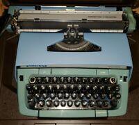 VINTAGE SMITH CORONA GALAXIE BLUE TYPEWRITER WORKS