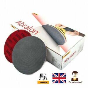 "Mirka Abralon Sanding Pads Discs 150mm 6"" Wet or Dry DA Sander Grits 180-4000"