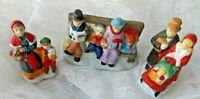 Christmas Figurines - 3 CERAMIC PORCELAIN CHRISTMAS VILLAGE FIGURINES