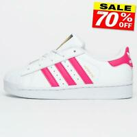 Adidas Originals Superstar Kids Junior Girls Retro Casual Trainers White