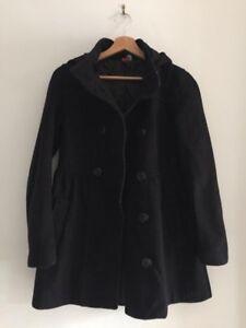 H&M Divided Ladies Black Jacket Coat Size 10