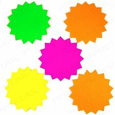 Pennine Neon Stars, Assorted Colour Large, 20 Pack - Shops, Car Boot Sale/Stalls