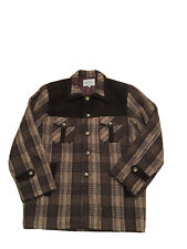 Vtg Modes Complice Western Wool Plaid Mackinaw Cruiser Lumberjack Flannel Jacket
