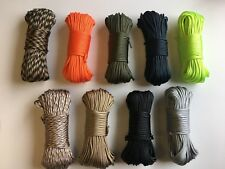550 Paracord Parachute Cord 7 Strand Core 100ft Multicolor Outdoor Survival Rope