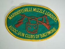 Marriottsville Muzzle Loaders Association Gun Club- Hunting Game Sew On Patch