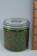 JAR Dollhouse Miniature model landscape flowers foliage diorama powder green red