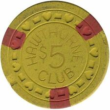 Hawthorne Club Casino $5 Chip 1950s