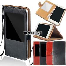 Per vari smartphone BLUBOO-Finestra Vista Flip Cover Stand Portafoglio in Pelle Case